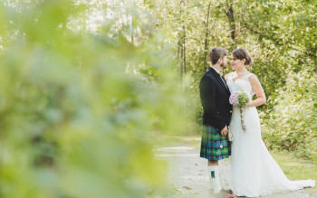ROMANTIC BACKYARD WEDDING IN BURNABY