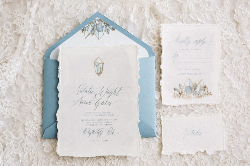 Custom wedding Invitation - Camilla Anchisi Design