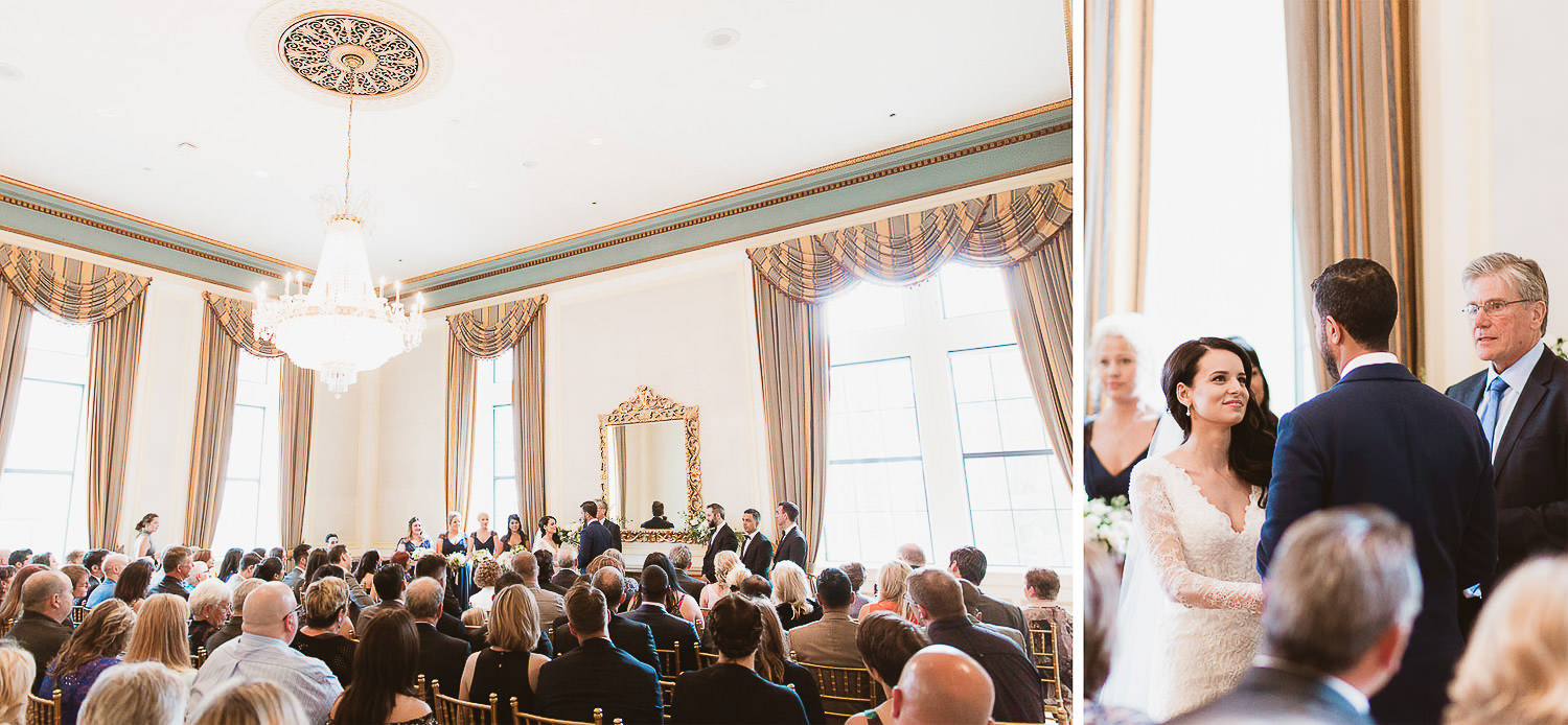 Fairmont Hotel Vancouver chic jewish wedding ceremony