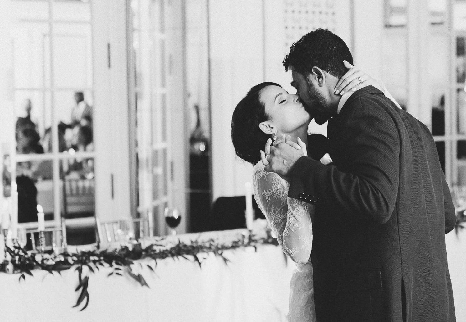 First dance and kisses