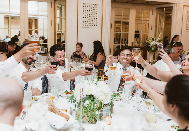 Wedding reception in Fairmont Hotel Vancouver