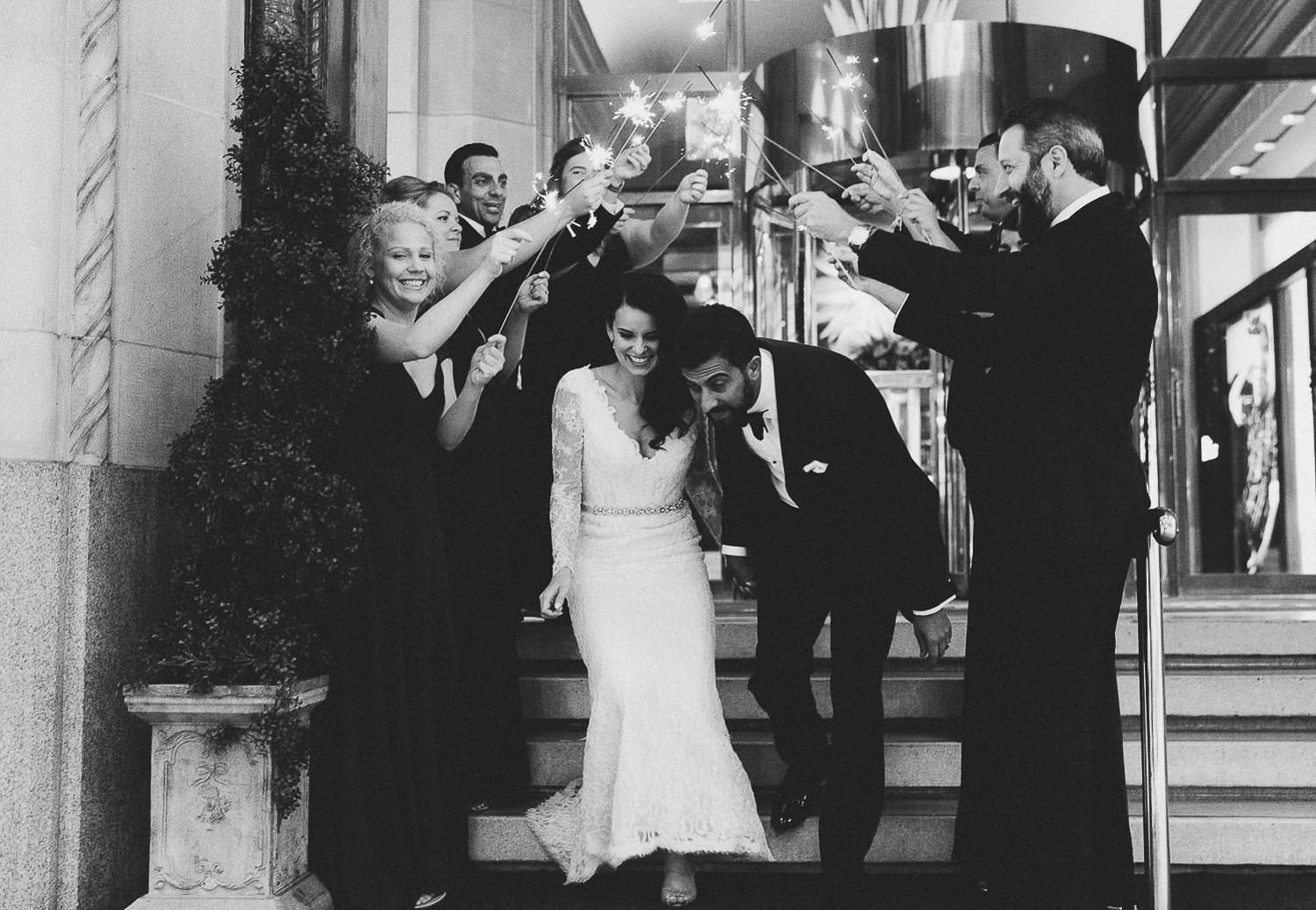 wedding send off with sparklers | Photo: Camilla Anchisi, Italian wedding photographer