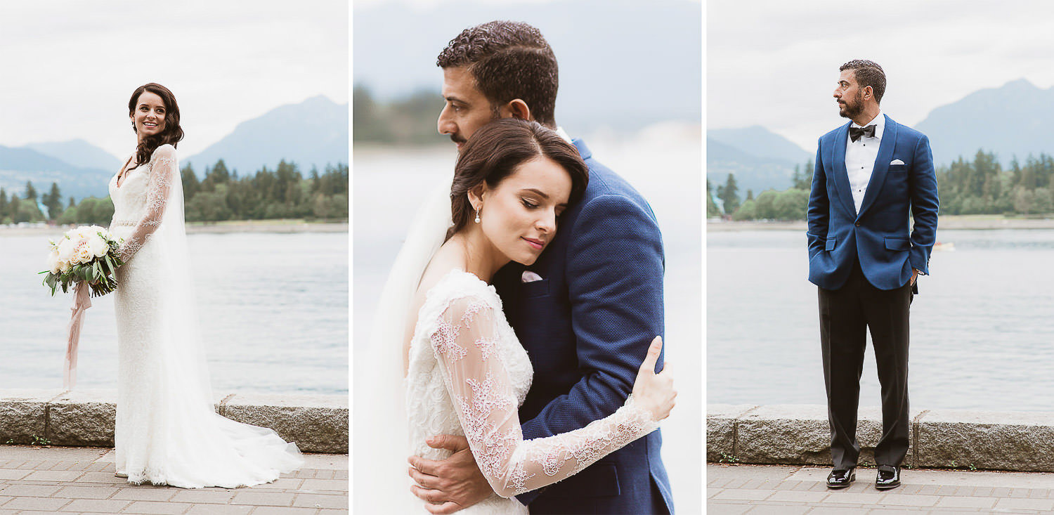 Chic & stylish bride with a beautiful Maggie Sottero lace gown