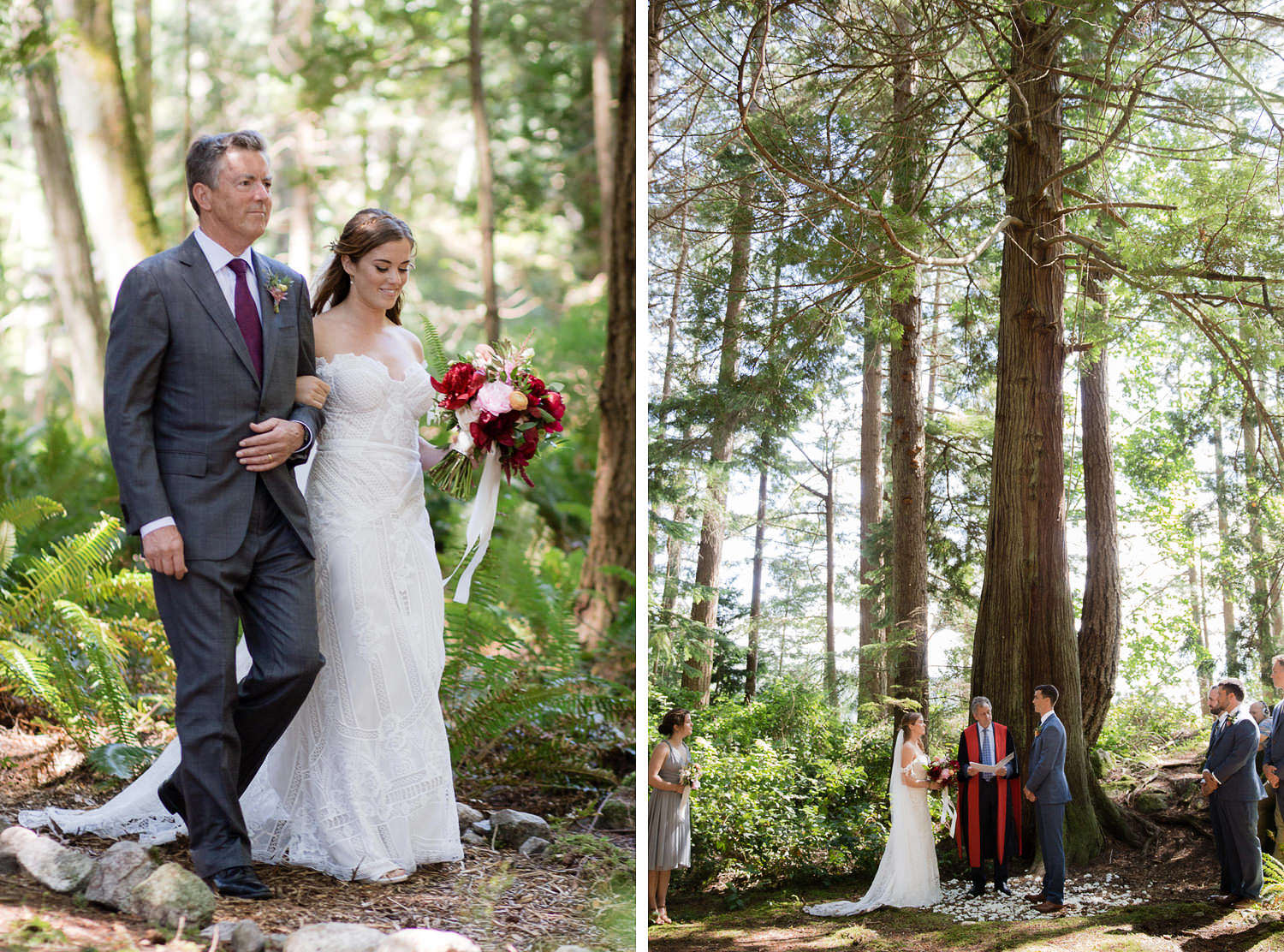 Intimate boho wedding reception into the woods -details