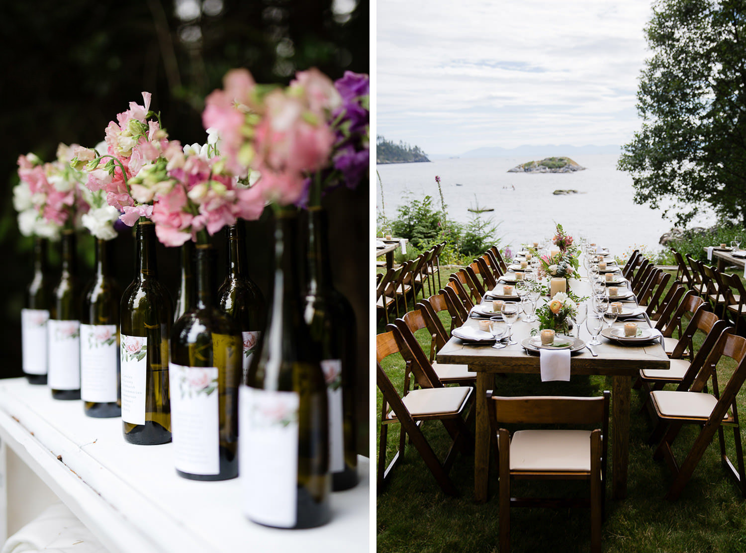 Seaside Rustic Boho wedding details and tablescape