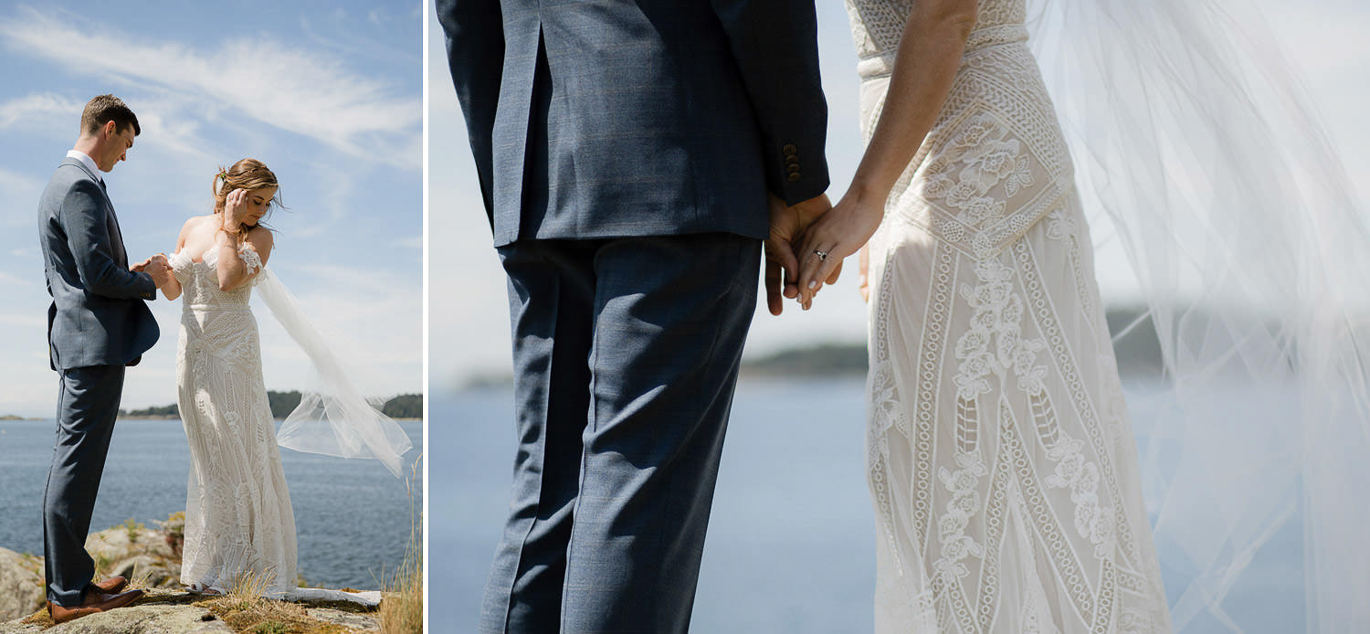 First look couple details