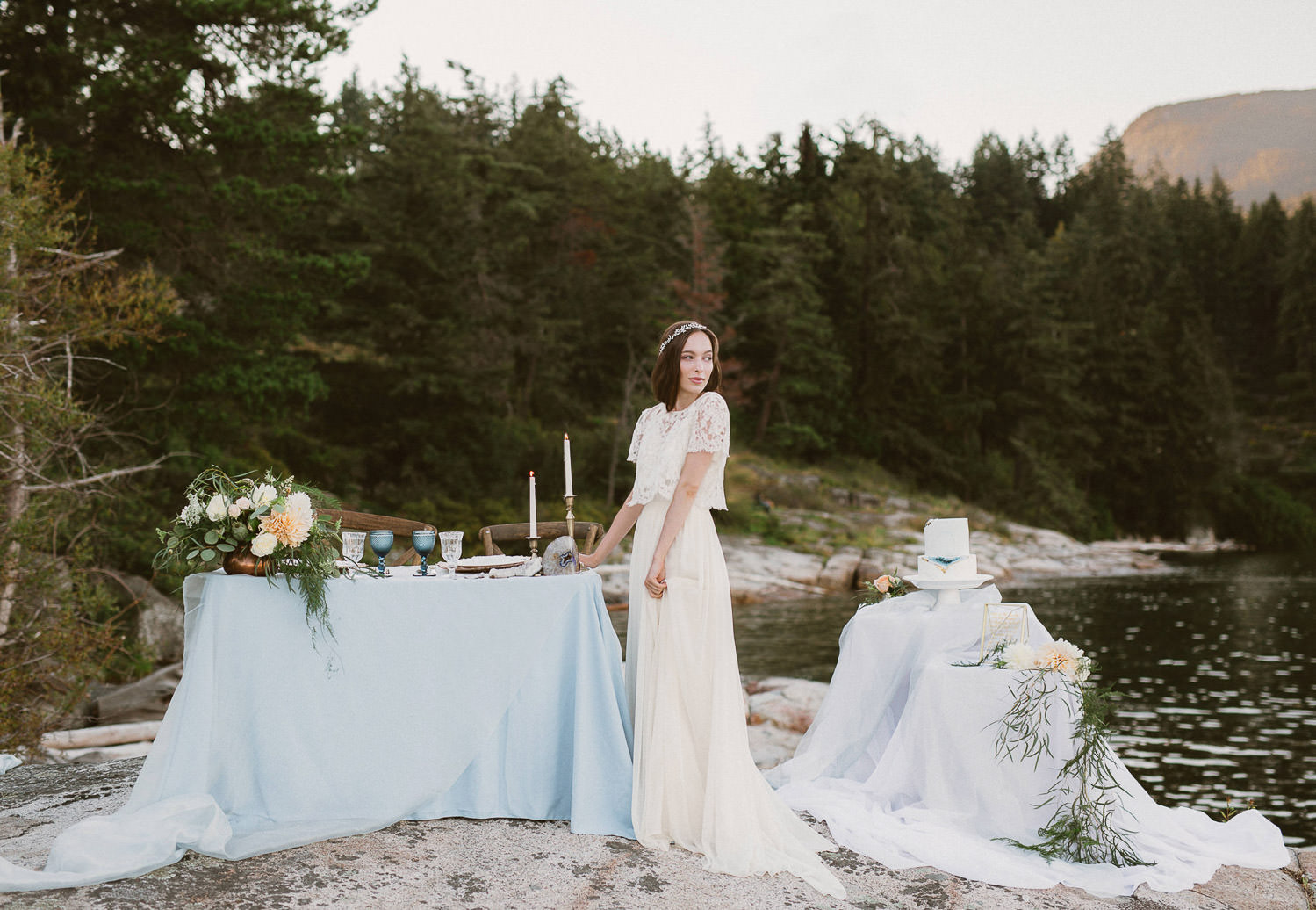 Refined wedding decor for an ethereal boho wedding inspiration