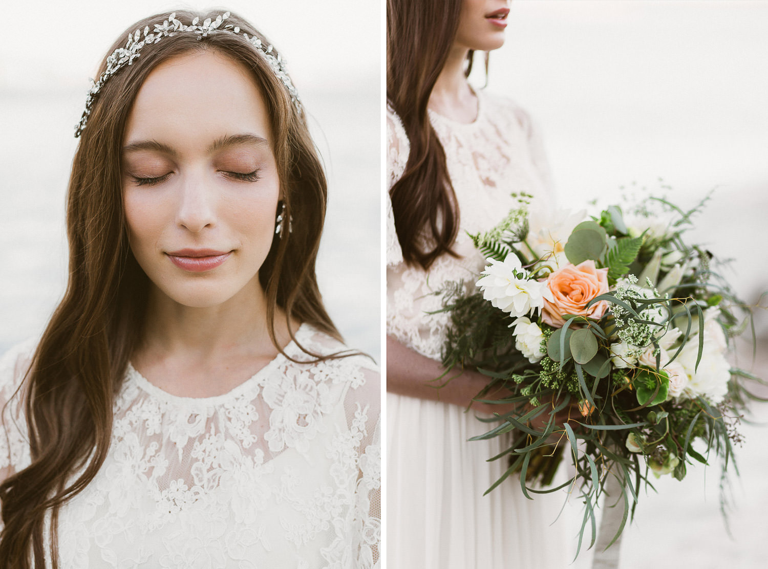Beautiful, lush and botanical inspired bouquet , Italian elopement photographer