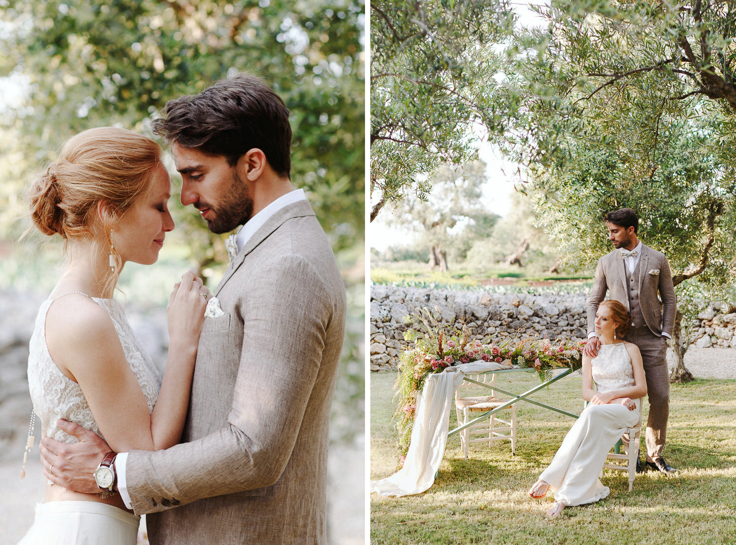 Al fresco wedding dinner in Masseria - Puglia elopement | Italian wedding photographer