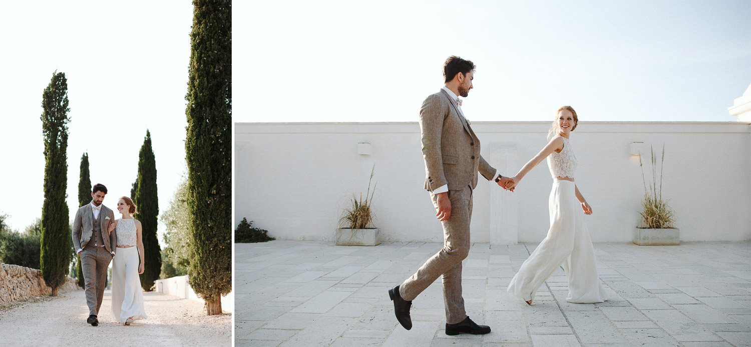 Stylish couple portraits - Wedding in Masseria, Puglia - Photo: Camilla Anchisi