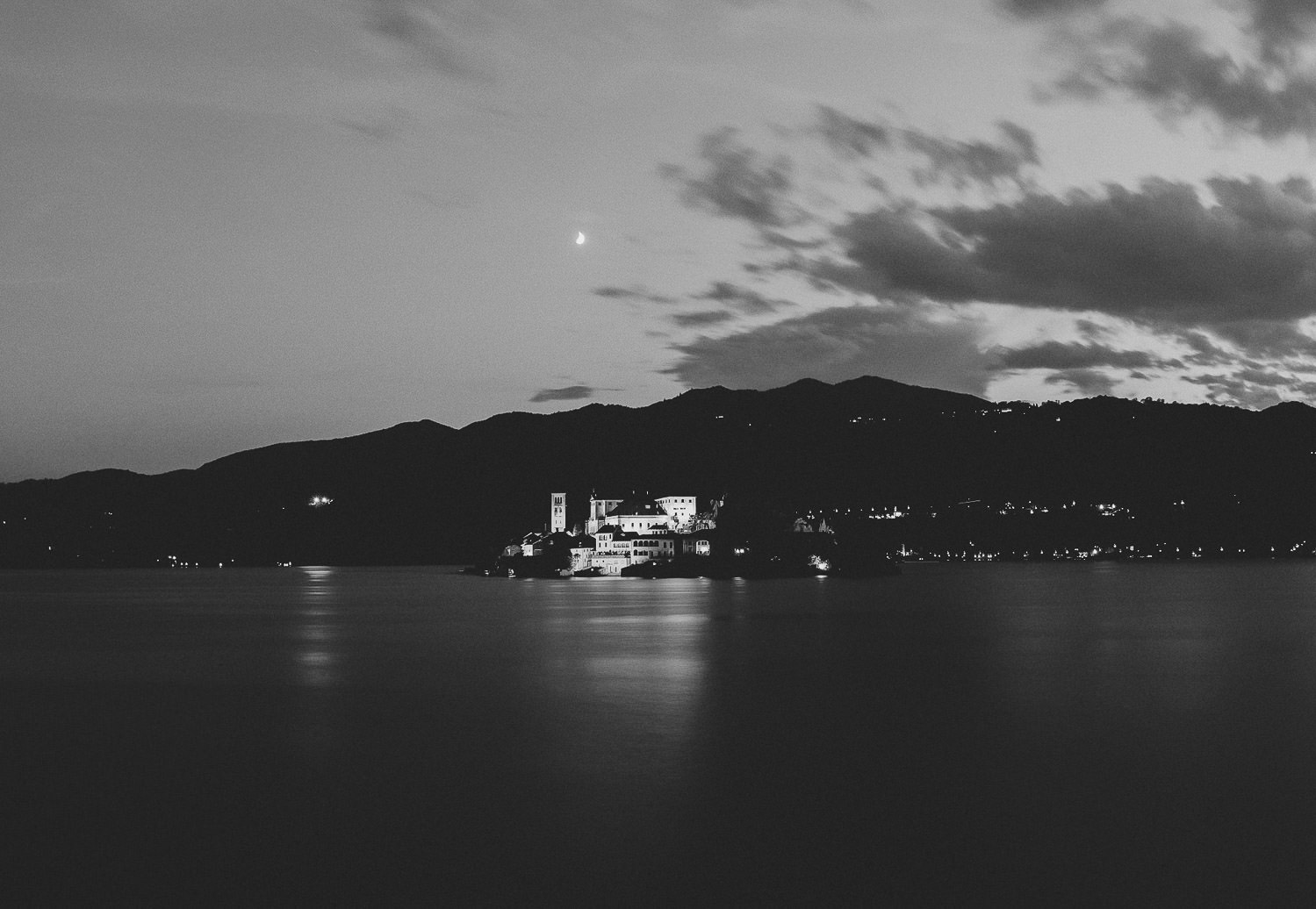 Lake Orta by Night - Italian destination wedding