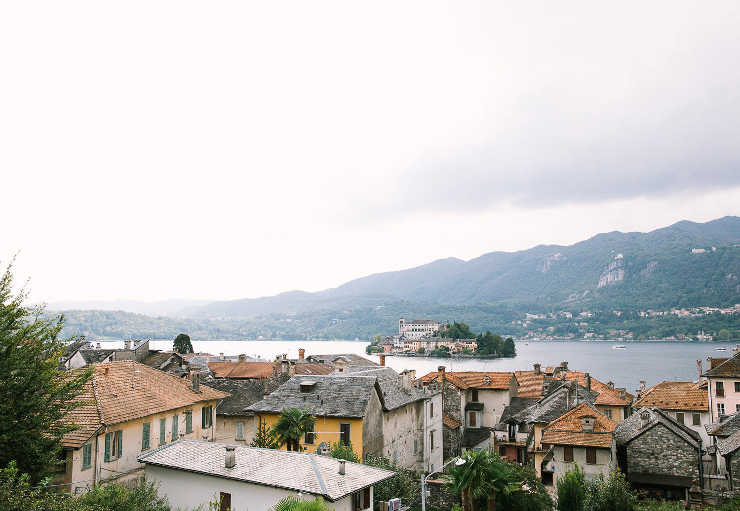 Stunning view of Orta San Giulio - Lake Orta, Italy . Destination wedding in Italy | Photo: Camilla Anchisi