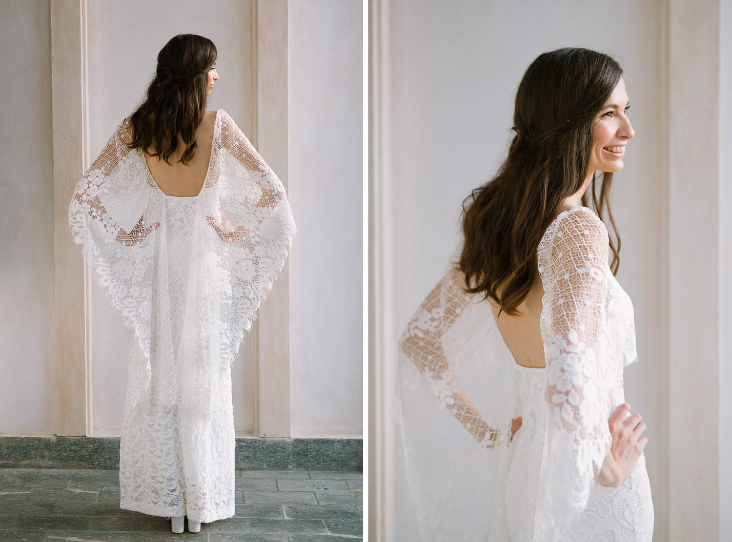 Lake Orta wedding photographer , elegant bride in Grace Loves Lace dress | Photo: Camilla Anchisi