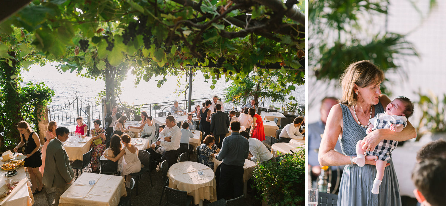 Intimate wedding reception in Orta San Giulio, wedding in Italy