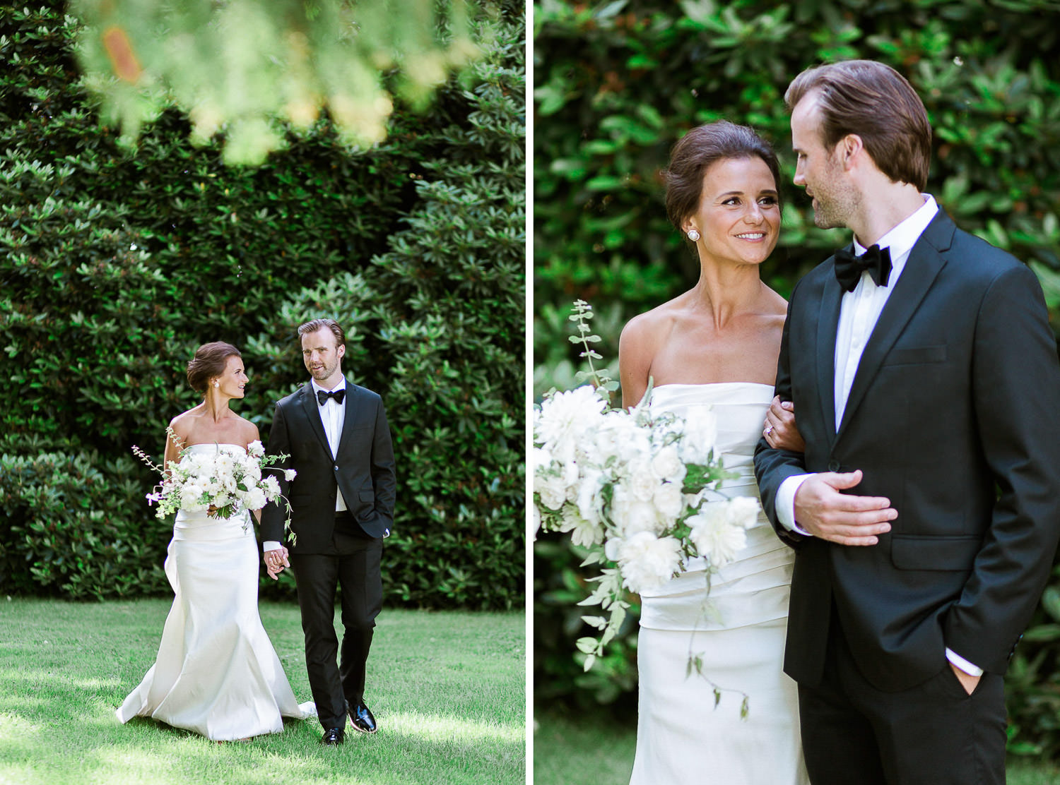 Sweet and elegant couple during their Tuscany inspired wedding day