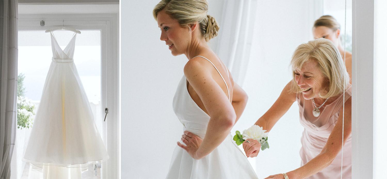 Bride Getting ready at Casa Angelina - Positano