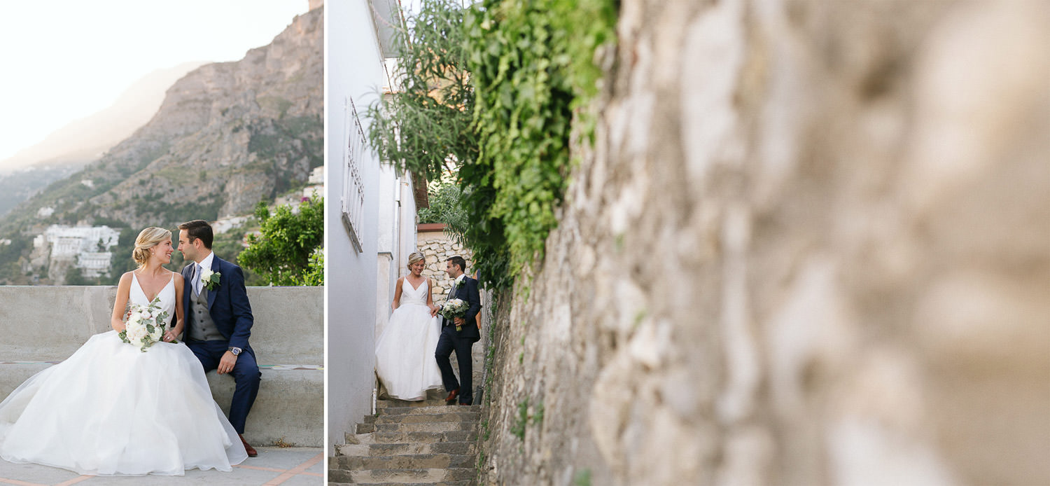 Sweet and romantic couple in Positano