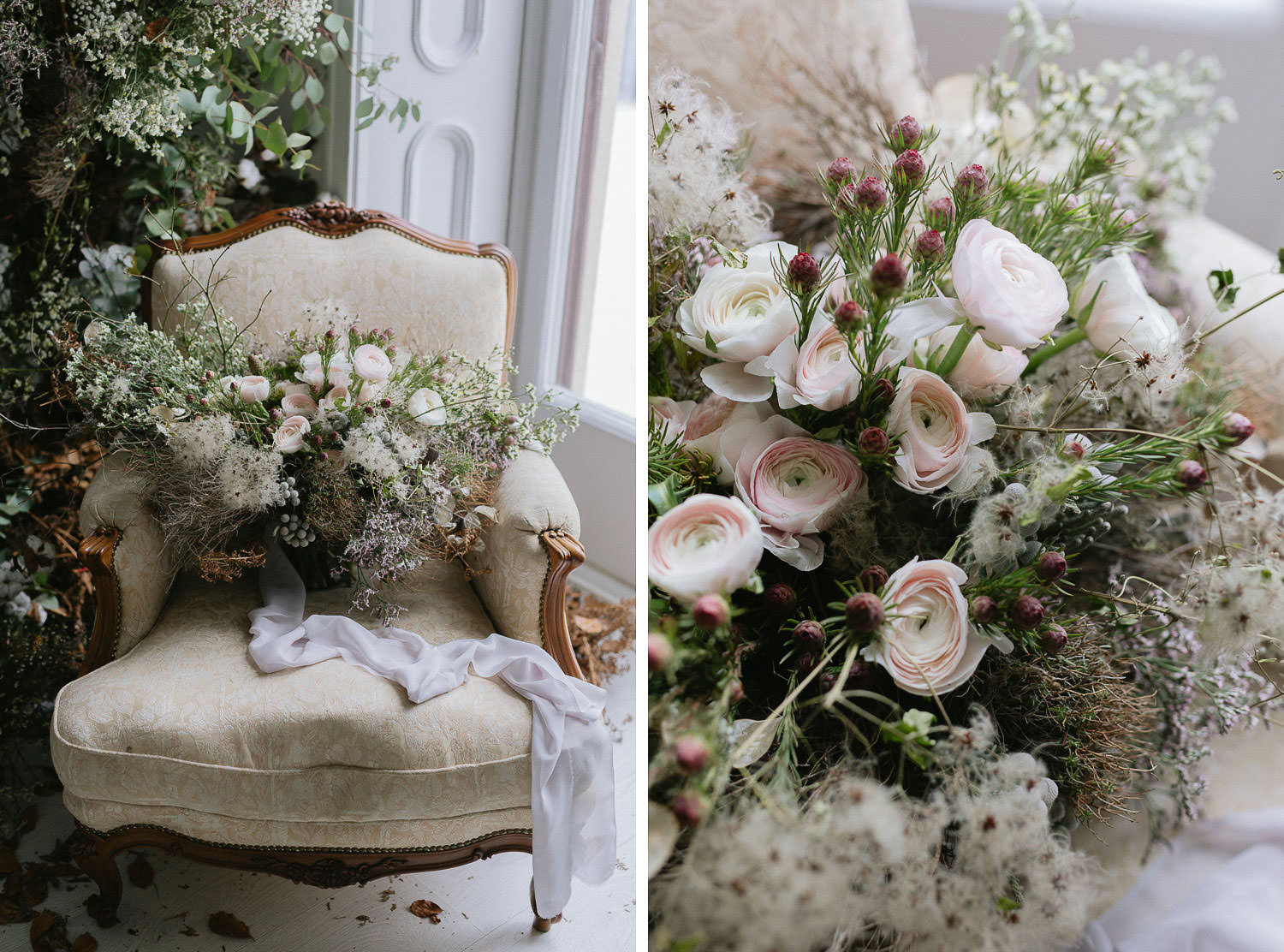 Gorgeous botanical inspired wedding bouquet by Figli dei Fiori Como - Florist in Lake Como | Photo: Camilla Anchisi