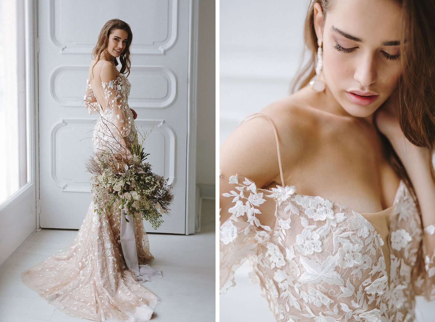 Stunning bridal portraits with Tara Lauren dress - 2018 collection | Photo: Camilla Anchisi Italian destination wedding photographer