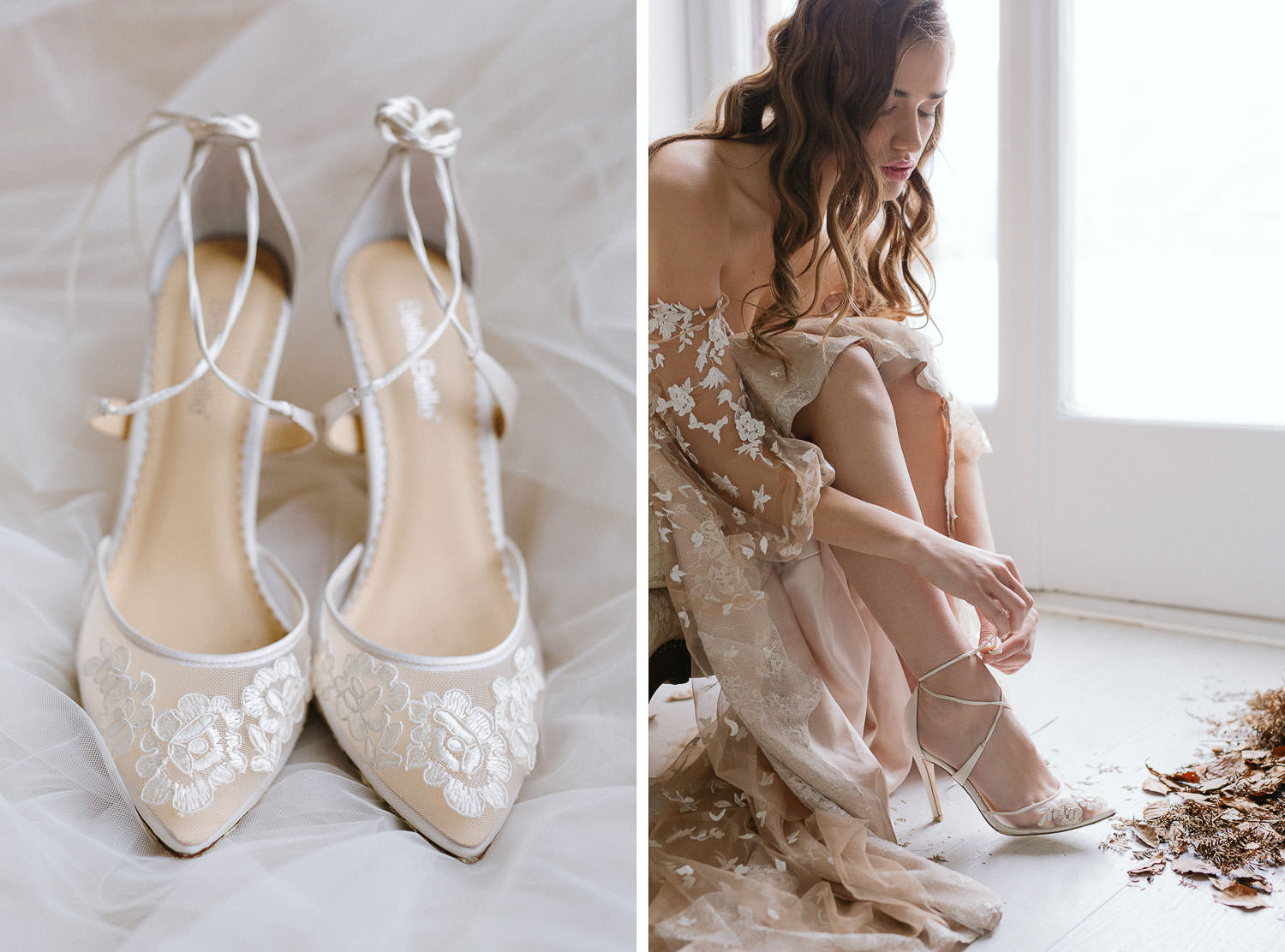 Bella Belle shoes details on Lake Como elegant wedding | Photo: Camilla Anchisi - Italian destination wedding photographer