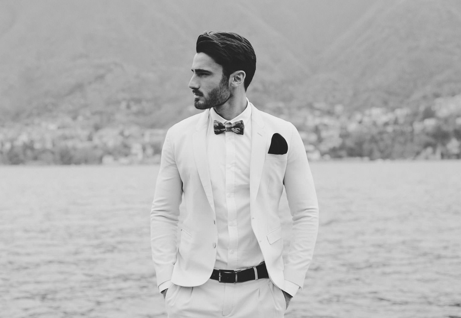 Linneo Archivable suit - Lake Como exclusive wedding | Photo: Camilla Anchisi