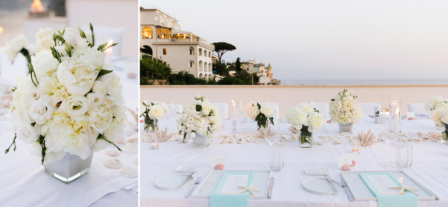 Intimate al fresco dinner on the rooftop of luxury Hotel Casa Angelina
