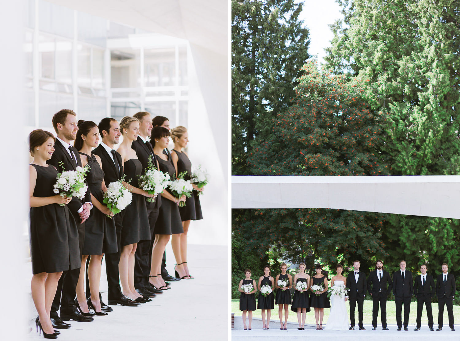 Stunning wedding party pose for formal portraits