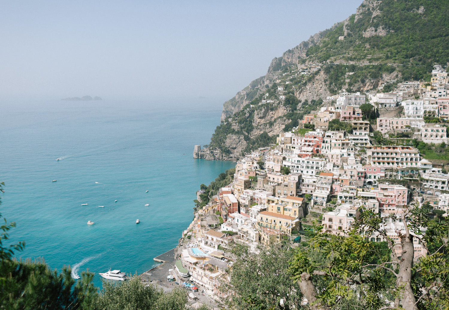 Positano view from Villa San Giacomo, Amalfi Coast | Photo: Camilla Anchisi Photography